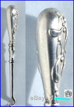 ART NOUVEAU ARGENT Ancien nécessaire de couture ciseaux Écrin Etui Sewing Cased