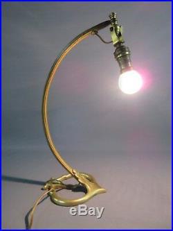 ART NOUVEAU PIED DE LAMPE ANCIEN SIGNÉ A. D AUGUSTE DELAFONTAINE H 35,5 cm