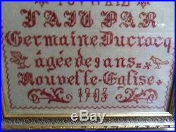 Ancien Grand Abecedaire Antique Large French Sampler Abc-book 1903 Art Nouveau