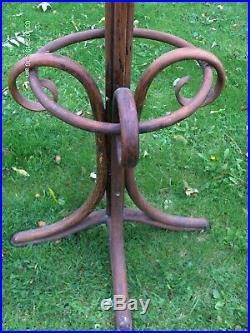 Ancien Porte Manteaux Perroquet Art Nouveau Thonet 8 Pateres