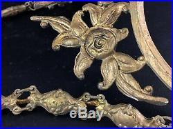 Ancien (art nouveau) Lustre bronze 3 branches Fin XIXème-début XXème