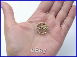 Ancien coulant de sautoir en or 18k Art Nouveau 1900 trèfle perle