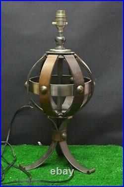 Ancienne Lampe De Chevet Bureau Art Deco Notaire Bouillotte Mappemonde