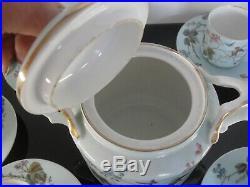 Ancienne Service A Cafe 6 Tasses Litron Porcelaine De Paris Art Nouveau 1860