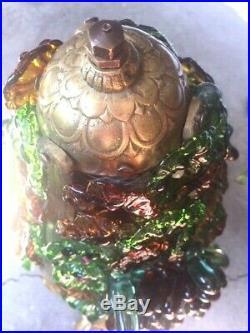 Ancienne lampe verre Murano, Et bronze lampe grappes raisin art déco art nouveau