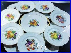 Art Nouveau Ancienne Service A Desserte Assiettes Porcelaine Limoges Lanternie