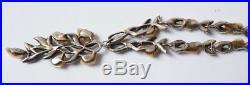 Beau collier marcassite et nacre ART NOUVEAU ancien chain necklace