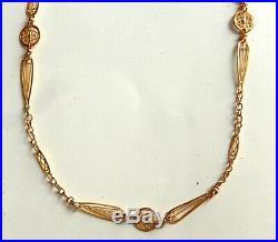 Collier Ancien Or 18 Carats Chaine Filigranne Poincon Epoque Art Nouveau