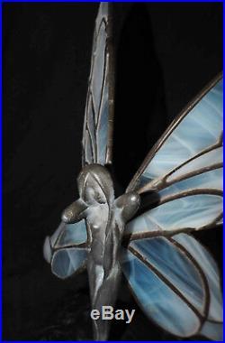 Elegante ancienne Fée Art Nouveau style Tiffany Vitrail / étain vers 1900