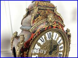 Grand Cartel Ancien A Decor De Feuillage En Laiton Style Boulle De 71cm