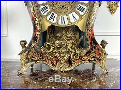 Grand Cartel Ancien A Decor De Feuillage En Laiton Style Boulle De 71cm De Haut