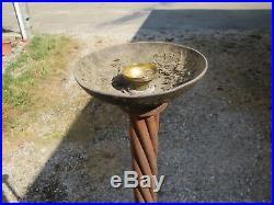Imposant Pied De Lampe Lampadaire Fer Forge Subes Art Deco French