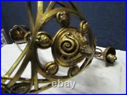 Lustre ancien en bronze art nouveaux