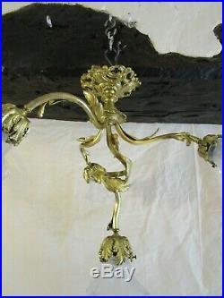 Lustre en bronze ancien
