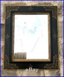MIROIR / GLACE ANCIENNE DE STYLE NAPOLEON III EN BOIS PEINT 50 cm x 42 cm