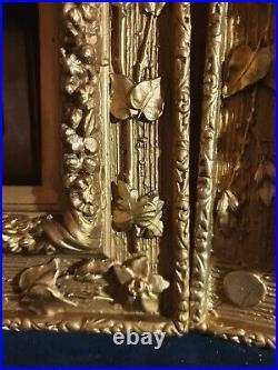 Paire De Cadre Doré Décoratif Ancien Art nouveau, 1900