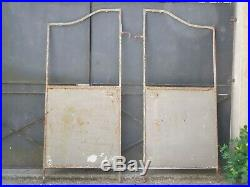 Paire d'anciens brise vue de terrasse de bistrot, porte, en métal