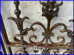 Paire de grille anciennes Dammarie / Saulx meuse époque art nouveau