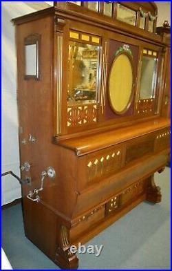 RARE PIANO MECANIQUE ORCHESTRE à CYLINDRE MONNAYEUR ART NOUVEAU A TRAINQUART