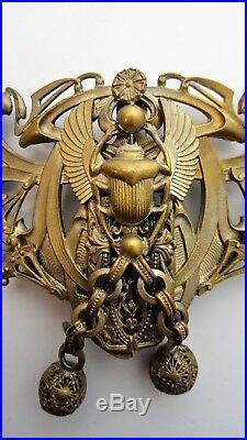 Travail Art Nouveau Parure ancienne Boucle de ceinture attache cape